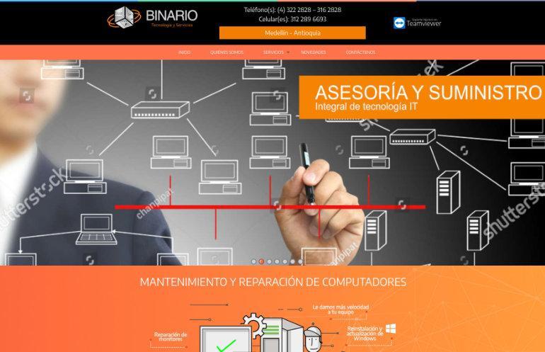 Practicar el sitio web de comercio binario